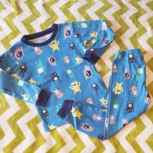 Carter's 2-piece Monster Pajamas Set 3t
